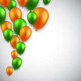 Celebrate background with balloons Royalty Free Stock Photography