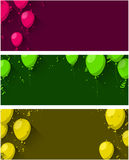Celebrate background with flat balloons. Stock Photography