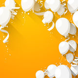 Celebrate background with flat balloons Royalty Free Stock Images