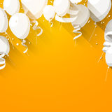 Celebrate background with flat balloons Stock Photo
