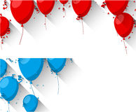 Celebrate backgrounds with flat balloons. Royalty Free Stock Photo