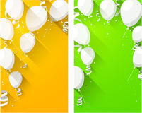 Celebrate backgrounds with flat balloons. Royalty Free Stock Images