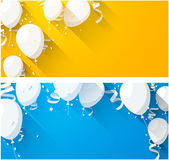 Celebrate backgrounds with flat balloons stock illustration