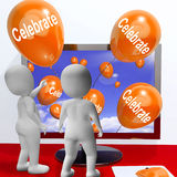 Celebrate Balloons Mean Parties and Celebrations Online Stock Photography