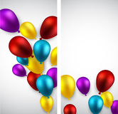 Celebrate banners with balloons. Stock Photos