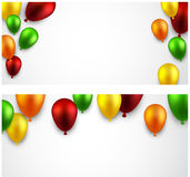 Celebrate banners with balloons Stock Photography