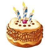 Celebrate birthday cake Stock Image