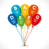 Celebrate birthday infographics Royalty Free Stock Photography