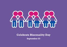 Celebrate Bisexuality Day vector Royalty Free Stock Photos
