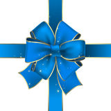 Celebrate bow. Blue celebrate bow, this illustration may be usefull as designer work Stock Photography