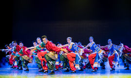 Celebrate a bumper harvest-Lhasa Gaisang-Chinese national folk dance Stock Image