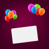 Celebrate card background with balloons Stock Image