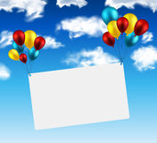 Celebrate card background with balloons Stock Photos