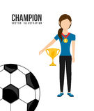 Celebrate champion. Design, vector illustration eps10 graphic Stock Photos