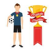 Celebrate champion. Design, vector illustration eps10 graphic Royalty Free Stock Image