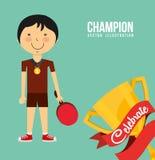 Celebrate champion Stock Photography