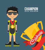 Celebrate champion Royalty Free Stock Photos