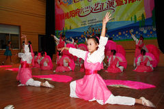 Celebrate Children's Day:dance performance Royalty Free Stock Image