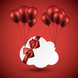 Celebrate cloud background with balloons Royalty Free Stock Photography