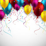 Celebrate colorful background with balloons. Royalty Free Stock Photos