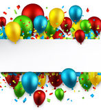 Celebrate colorful background with balloons. Stock Image