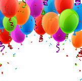 Celebrate colorful background with balloons. Royalty Free Stock Photo