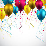 Celebrate colorful background with balloons Royalty Free Stock Photo