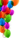 Celebrate colorful background with balloons Stock Photo