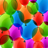 Celebrate colorful background with balloons. Celebration colorful background with balloons and confetti. Vector illustration Royalty Free Stock Photos