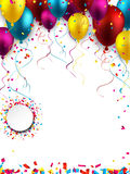Celebrate colorful background with balloons Royalty Free Stock Image