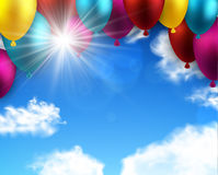 Celebrate colorful background with balloons. Stock Photography