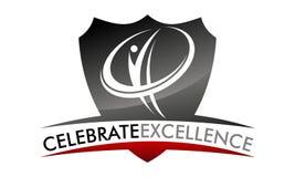 Celebrate Excellence Logo Design Template. Vector Stock Photo