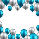 Celebrate frame background with balloons Stock Photography