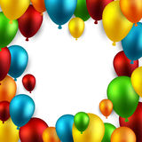 Celebrate frame background with balloons. Stock Image