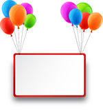 Celebrate frame background with balloons Stock Photo