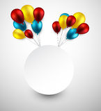 Celebrate frame background with balloons Royalty Free Stock Photography