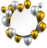 Celebrate frame background with balloons. Royalty Free Stock Photography