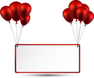Celebrate frame background with balloons Stock Image