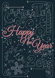 Celebrate happy new year 2015 Stock Images