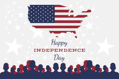 Celebrate Happy 4th of July - Independence Day. Royalty Free Stock Image
