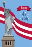 Celebrate Happy 4th of July - Independence Day. royalty free illustration