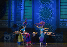 """Celebrate the harvest dance- ballet """"One Thousand and One Nights"""" Royalty Free Stock Photos"""