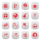 Celebrate Icon Set Royalty Free Stock Photos