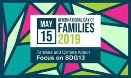 Celebrate International Day of Families - Vector royalty free stock photos