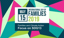 Celebrate International Day of Families - Vector stock photos