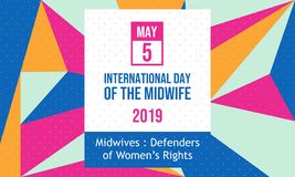 Celebrate International Day of the Midwife 2019 - Vector vector illustration