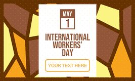 Celebrate International Workers` Day - Vector stock illustration