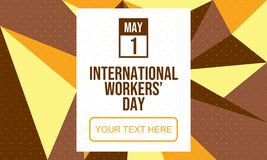 Celebrate International Workers` Day - Vector. Celebrate International Workers` Day. 1 May. Designed for banner, prints, background, etc. Suitable for your vector illustration
