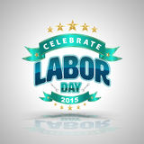 Celebrate labor day badge. Stock Images