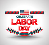 Celebrate labor day banner. Stock Image